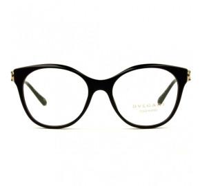 Bvlgari 4142-K-B - Preto/Dourado 5195 53mm Banhado a Ouro - Óculos de Grau