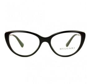 Bvlgari 4146-B - Preto/Dourado 501 52mm - Óculos de Grau