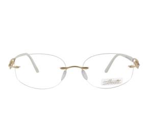 Silhouette 4294 - Branco/Dourado 20 6061 55mm - Óculos de Grau