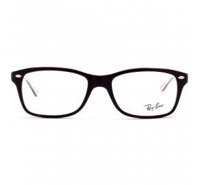 Ray Ban RX5228 - Preto/Branco 5014 53mm - Óculos de Grau