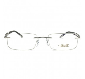 Silhouette 5286 - Preto Fosco/Prata 00 6050 5286 54mm - Óculos de Grau