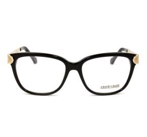 Roberto Cavalli Polaris 934 - Preto Brilho/Dourado 005 53mm - Óculos de Grau