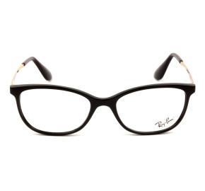 Ray Ban RB7106L Preto Brilho/Dourado 5697 53mm - Óculos de Grau