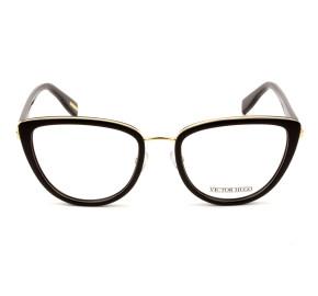 Victor Hugo VH1273 Preto Brilho/Dourado 0700 52mm - Óculos de Grau