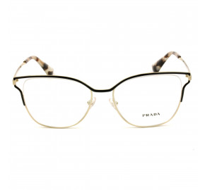 Prada VPR54U Preto/Dourado QE3-1O1 53mm - Óculos de Grau
