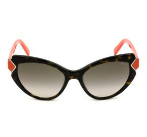 Emilio Pucci EP 91 - Turtle/Marrom Degradê 52K 54mm - Óculos de Sol