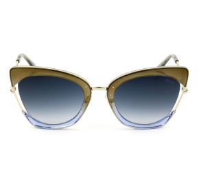 Emilio Pucci EP 74 Dourado/Azul/Cinza Degradê 33W 55mm - Óculos de Sol