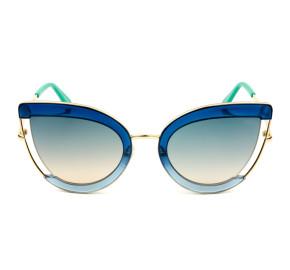 Emilio Pucci EP 100 - Azul/Cinza Degradê 92P 54mm - Óculos de Sol