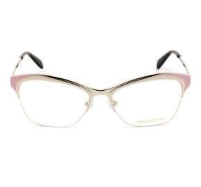 Emilio Pucci EP 5074 - Dourado/Rosa 033 53mm - Óculos de Grau