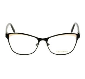 Emilio Pucci EP 5084 - Preto Brilho/Dourado 005 53mm - Óculos de Grau