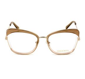 Emilio Pucci EP 5090 - Nude/Dourado 050 52mm - Óculos de Grau