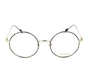 Emilio Pucci EP 5088 - Preto Brilho/Dourado 032 51mm - Óculos de Grau