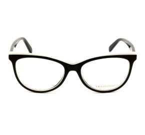 Emilio Pucci EP 5099 - Preto Brilho/Branco 005 53mm - Óculos de Grau