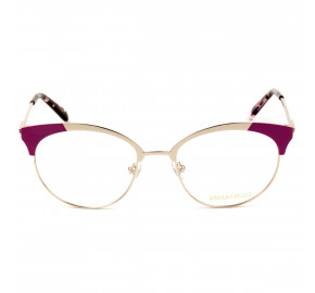 Emilio Pucci EP 5086 - Dourado/Rosa 028 52mm - Óculos de Grau