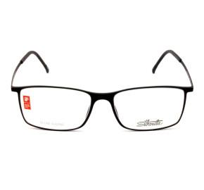 Silhouette SPX 2902 - Preto Fosco 40 6050 53mm - Óculos de Grau