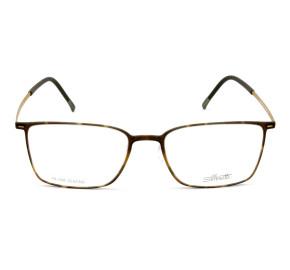 Silhouette SPX 2886 - Turtle/Dourado 20 6053 55mm - Óculos de Grau