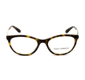 Dolce & Gabbana DG3310 - Turtle 502 52mm - Óculos de Grau