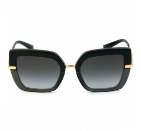 Dolce & Gabbana DG4373 - Preto/Dourado 3246/8G 52mm - Óculos de Sol