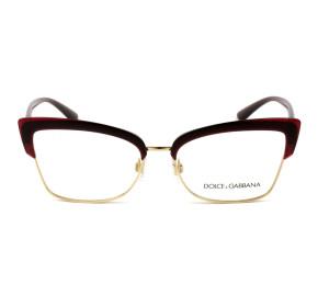 Dolce & Gabbana DG5045 - Vermelho/Dourado 550 55mm - Óculos de Grau