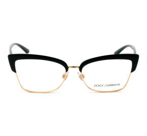Dolce & Gabbana DG5045 - Preto/Dourado 501 55mm - Óculos de Grau