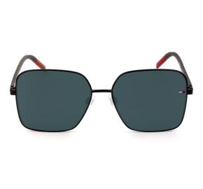 Tommy Hilfiger TJ0007/S - Preto/Cinza 807IR 58mm - Óculos de Sol