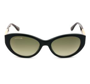 Lacoste L912S - Preto/Marrom Degradê 002 53mm - Óculos de Sol