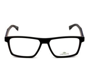 Lacoste L2843 - Preto Fosco/Azul 001 56mm - Óculos de Grau