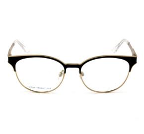 Tommy Hilfiger TH1359 Preto Fosco/Dourado K1T 52mm - Óculos de Grau