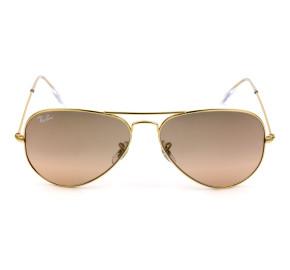 Ray-Ban Aviador RB3025L Rosa Degradê Semi-Espelhado 001/3E 58 Médio - Óculos de Sol