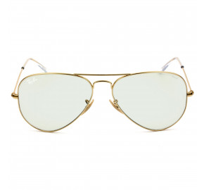 Ray Ban Clear Evolve RB3025 Dourado/Cinza 001/5F 58mm - Óculos de Sol