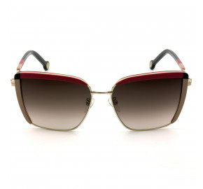 Carolina Herrera SHE148 -Nude Vermelho/Marrom Degradê 300Y 57mm - Óculos de Sol