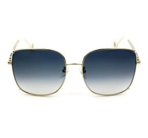 Carolina Herrera SHE153 Dourado Branco/Azul Degradê 0361 59mm - Óculos de Sol