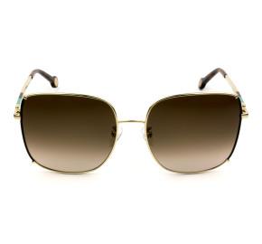 Carolina Herrera SHE153 - Dourado/Marrom Degradê 0367 59mm - Óculos de Sol