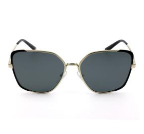 Prada SPR60X Dourado/Cinza Polarizado QE3-5Z1 59mm - Óculos de Sol