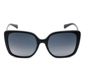 Bvlgari 8225-B Preto/Cinza Polarizado 501/T3 56mm - Óculos de Sol