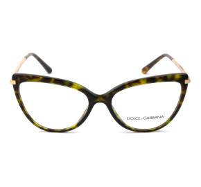 Dolce & Gabbana DG3295 Turtle 502 55mm - Óculos de Grau