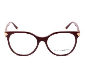 Dolce & Gabbana DG5032 Vinho 3091 53mm - Óculos de Grau