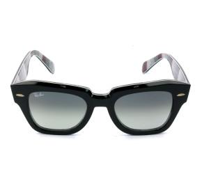 Ray Ban RB2186 State Street Preto/Cinza Degradê 1318/3A 49mm - Óculos de Sol