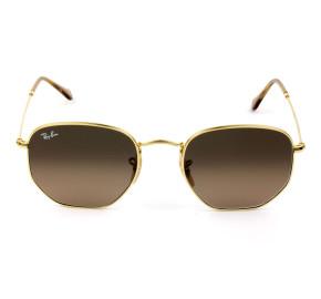 Ray Ban Hexagonal RB3548NL Dourado/Marrom Degradê 912443/54mm - Óculos de Sol