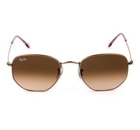 Ray Ban Hexagonal RB3548NL Bronze/Marrom Degradê 9069A5/54mm - Óculos de Sol