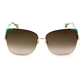 Carolina Herrera SHE172 Dourado 033M 59mm - Óculos de Sol