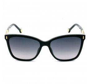 Carolina Herrera SHE828 Preto/Cinza Degradê 0700 56mm - Óculos de Sol