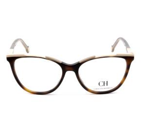 Carolina Herrera VHE834 Turtle 01AY 54mm - Óculos de Grau