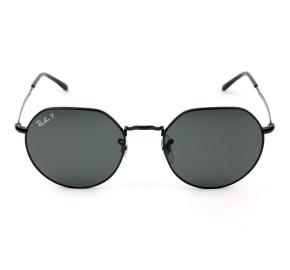 Ray Ban Jack RB3565L Preto/Cinza Polarizado 002/48 53mm - Óculos de Sol