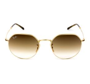 Ray Ban Jack RB3565L Dourado/Marrom Degradê 001/51 53mm - Óculos de Sol