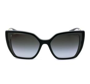 Dolce & Gabbana DG6138 - Preto/Cinza Translúcido/Cinza Degradê 3246/8G 55mm - Óculos de Sol
