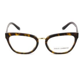 Dolce & Gabbana DG3335 Turtle 502 54mm - Óculos de Grau