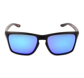 Oakley Sylas OO9448 - Preto Fosco/Azul Prizm Semi-Espelhado 57mm - Óculos de Sol