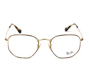 Ray Ban Hexagonal RB6448 Mesclado/Dourado 2945 54mm - Óculos de Grau