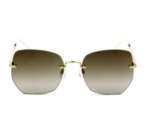 Tommy Hilfiger TH1667/S Dourado/Marrom Degradê 01EHA 57mm - Óculos de Sol